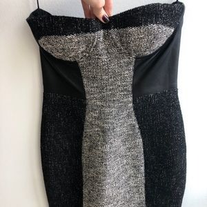 MARNA RO revolve cocktail dress leather gray M